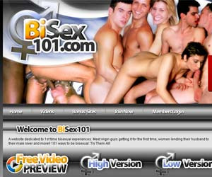 Welcome to Bisex101 - virgin guys getting fuck for the first time and women lending their husband to their male lover!