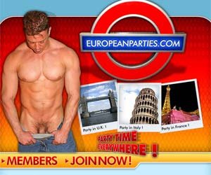 Welcome to European Parties - naughty dudes fuck in gay party!