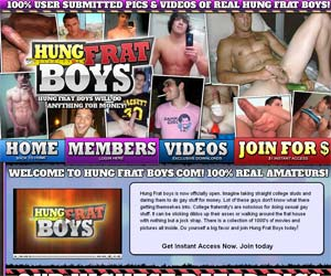 Welcome to Hung Frat Boys - college studs showing off their large dicks!