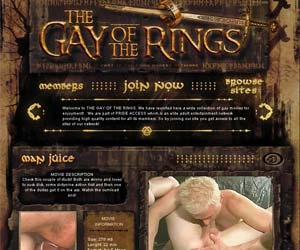 Welcome to The Gay Of the Rings - horny couple of studs love to play dick in gay fetish action!